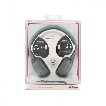 BEEWI Bluetooth + filaire casque gris