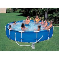 Pack inflatable pools (H: 76cm x Ø: 366cm) + accessories