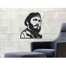 Tableau déco en acier Fidel Castro