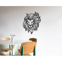 Metal wall art Lion's Head
