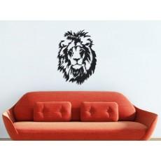 Tableau déco en acier Tête de lion 2