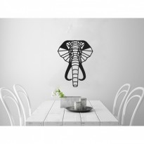 Metal wall art Elephant head