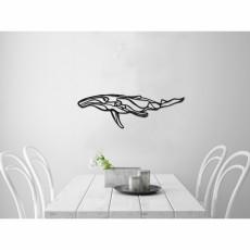Tableau déco en acier Baleine