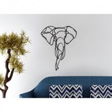 Tableau déco en acier Tête d'éléphant 2