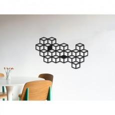 Tableau déco en acier Cubes