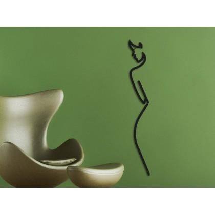 Tableau déco en acier Silhouette Femme