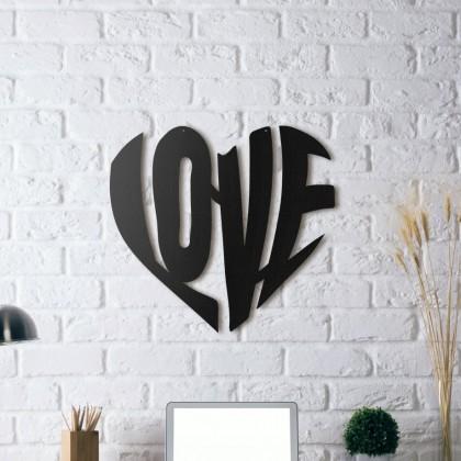 Tableau déco en acier  Love 2