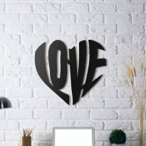 Metal wall art Love 2