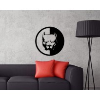 Metal wall art Pitbull