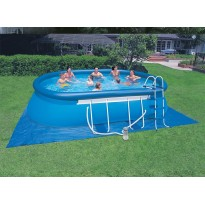 Pack inflatable pools (H:122cm x L:609cm x l:355cm) + accessories