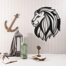 Tableau déco en acier Tête de lion 4