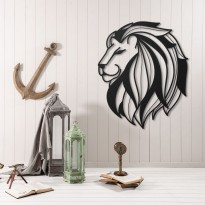 Metal wall art Lion head 4