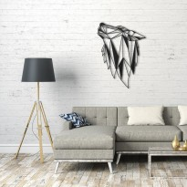 Metal wall art Wolf head