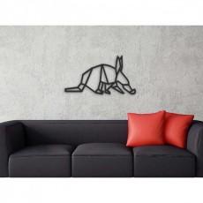 Tableau déco en acier Aardvark en origami