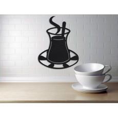 Tableau déco en acier Tasse de café