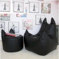 Pack pouf d'apoint éléphant + pouf fauteuil éléphant