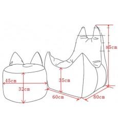 Pack pouf d'appoint éléphant + pouf fauteuil éléphant