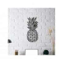 Tableau déco en acier Ananas