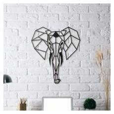 Tableau déco en acier Tête d'éléphant