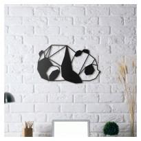 Tableau déco en acier Panda