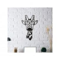 Tableau déco en acier Tête de girafe