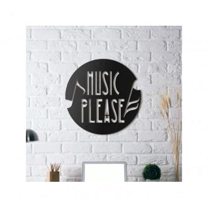 Tableau déco en acier Musique