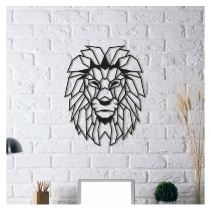 Tableau déco en acier Tête de lion