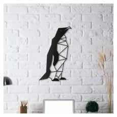 Tableau déco en acier Pingouin