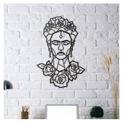 Tableau déco en acier Frida Kahlo