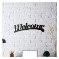 Tableau déco en acier Welcome