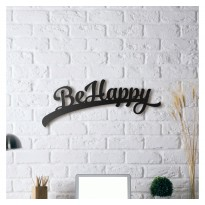Metal wall art Be happy