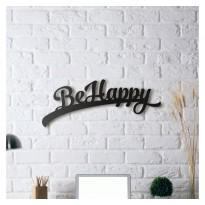 Tableau déco en acier Be happy
