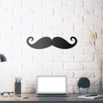 Tableau déco en acier Moustache