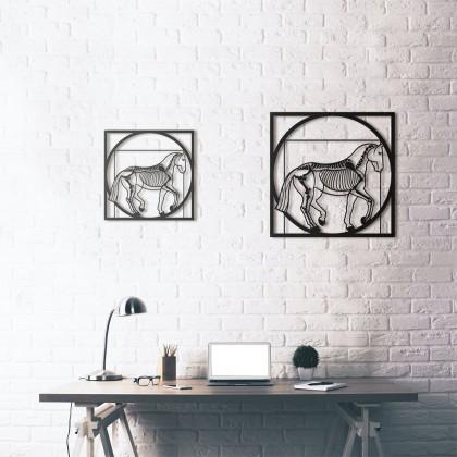 Tableau déco en acier Da Vinci - Vitruvian Horse