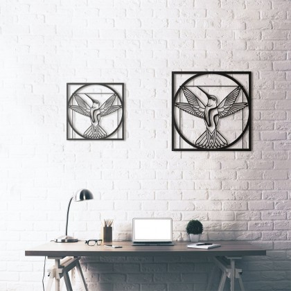 Tableau déco en acier Da Vinci - Vitruvian Bird