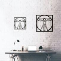Tableau déco en acier Da Vinci - Vitruvian Man