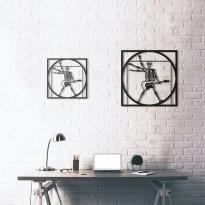 Metal wall art Da Vinci - Vitruvian Rocker