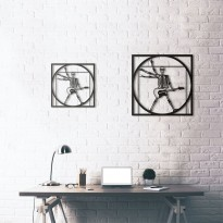 Tableau déco en acier Da Vinci - Vitruvian Rocker