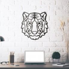 Tableau déco en acier Tigre