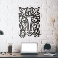 Metal wall art Mask of Redemption