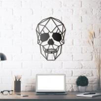 Tableau déco en acier Crâne