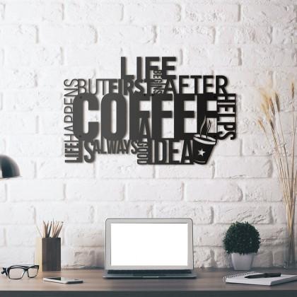 Tableau déco en acier Café