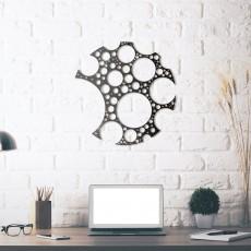 Tableau déco en acier Cercles
