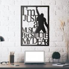 Tableau déco en acier Freddie Mercury