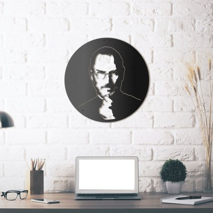 Tableau déco en acier Steve Jobs