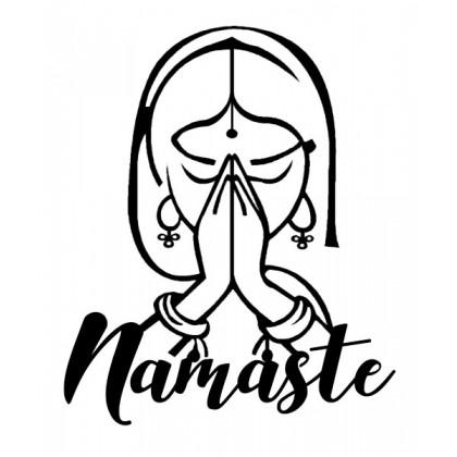 Tableau déco en acier Namaste