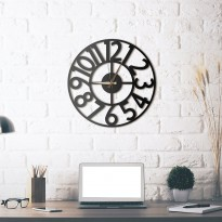 Horloge mural en métal Hanlin