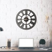 Horloge mural en métal Rail