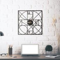 Metal wall clock Golden Section