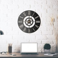 Metal wall Clock Europa